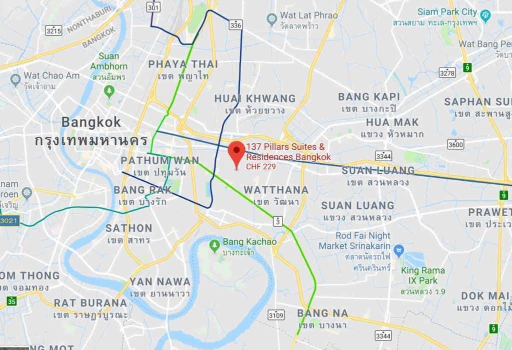 Google Maps 137 Pillars Suites and Residences Bangkok