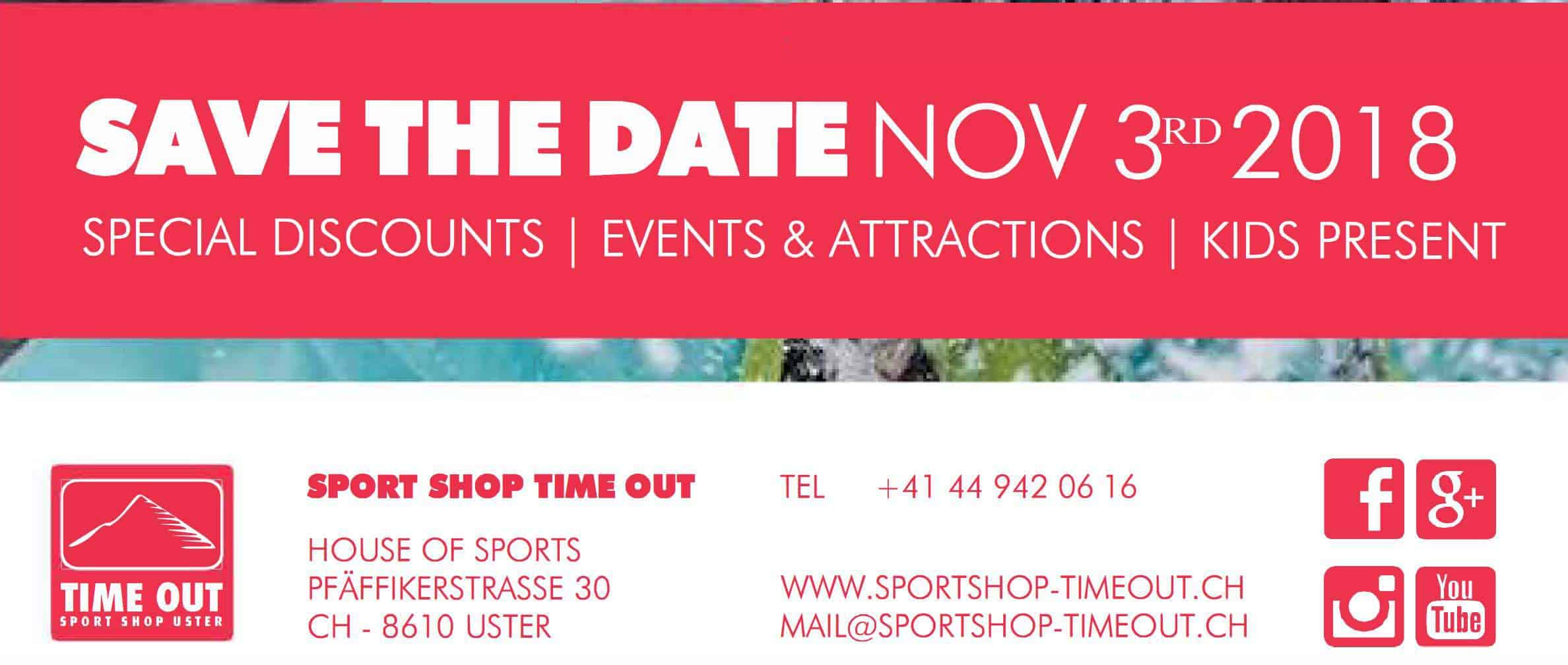 Sport Shop Time Out Uster Open Day