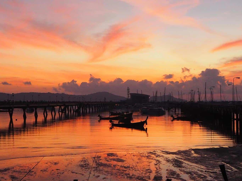 Sunrise Chalong Pier Phuket Thailand