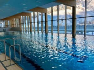 Wellness area and pool at The Radisson Blu Reussen Andermatt