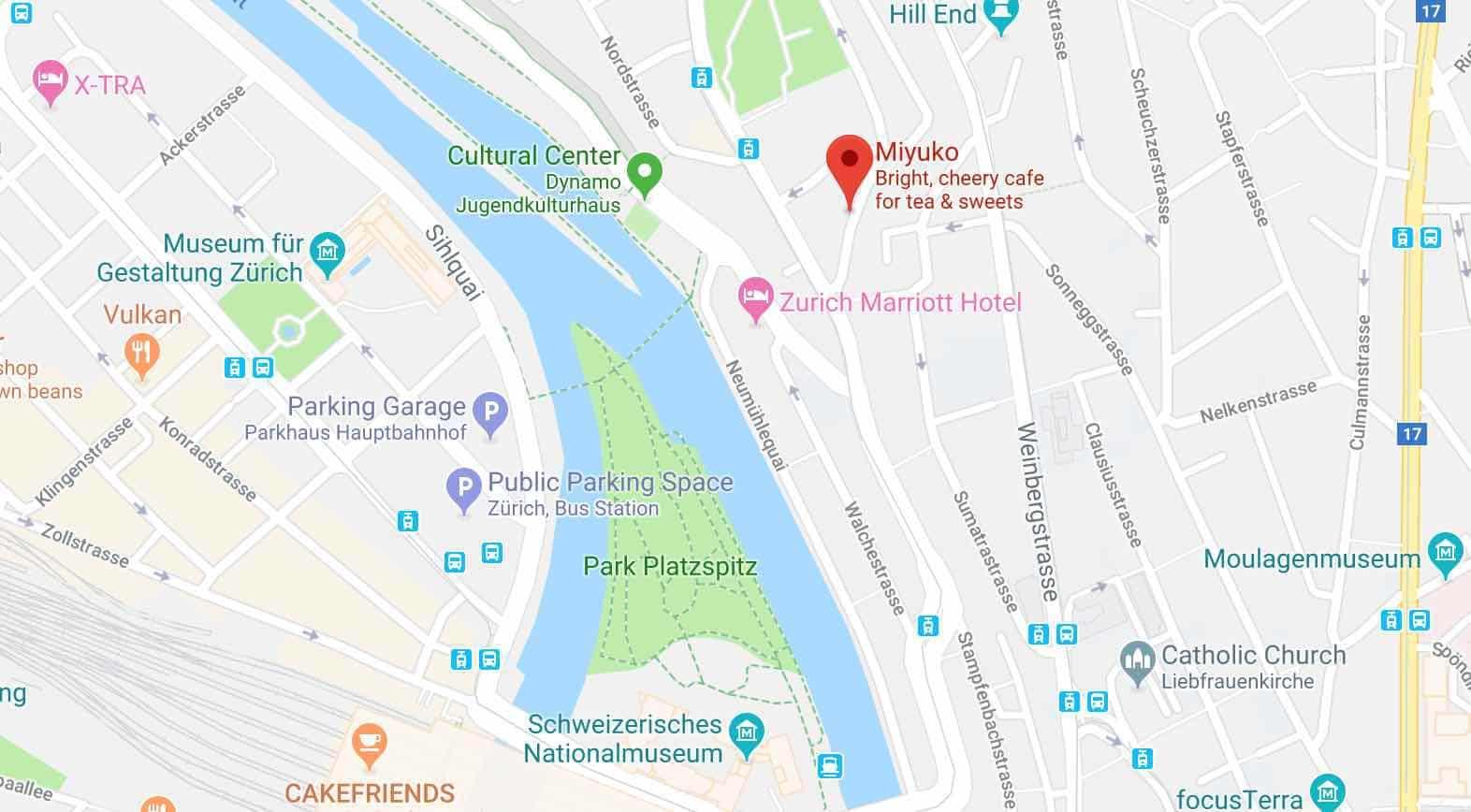 Google Map Les Gourmandises de Miyuko
