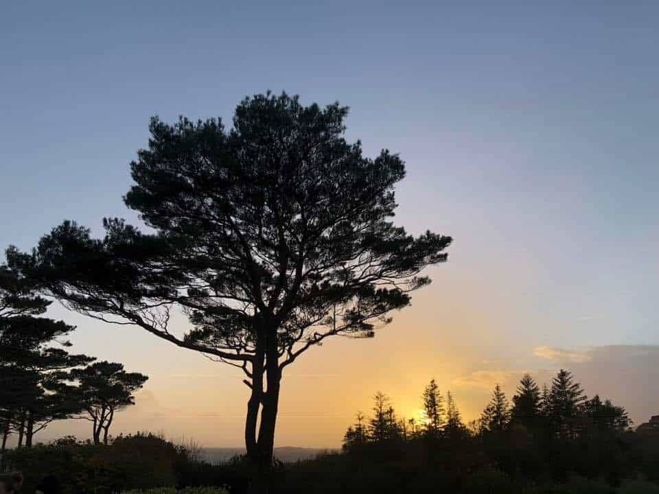 Sunset at Parkanasilla resort and spa Southern Ireland