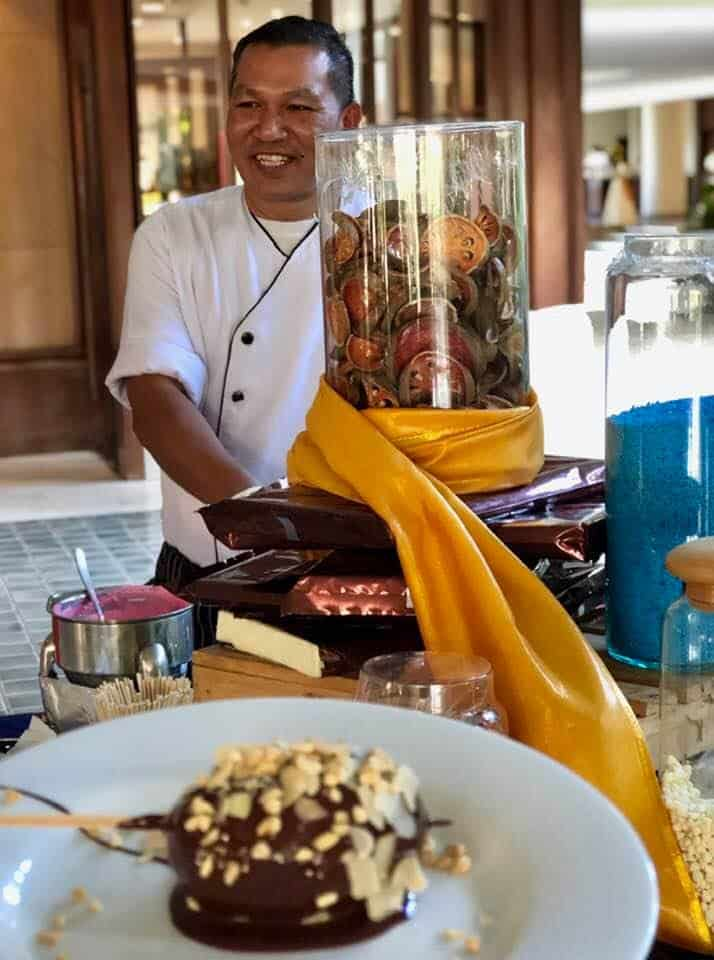 Chocolate hour at Mövenpick Resort & Spa Karon Beach Phuket Thailand