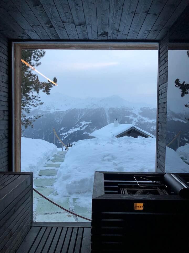 Sauna at Boutique Hotel Chandolin Switzerland