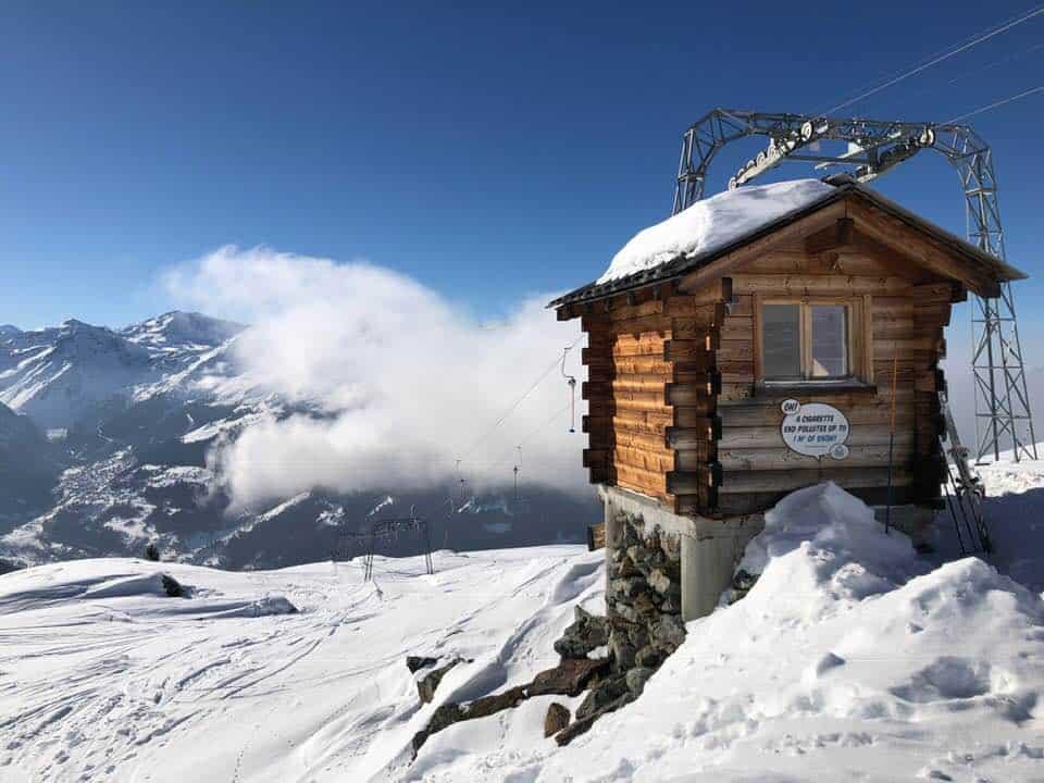 Skiing in Chandolin Switzerland