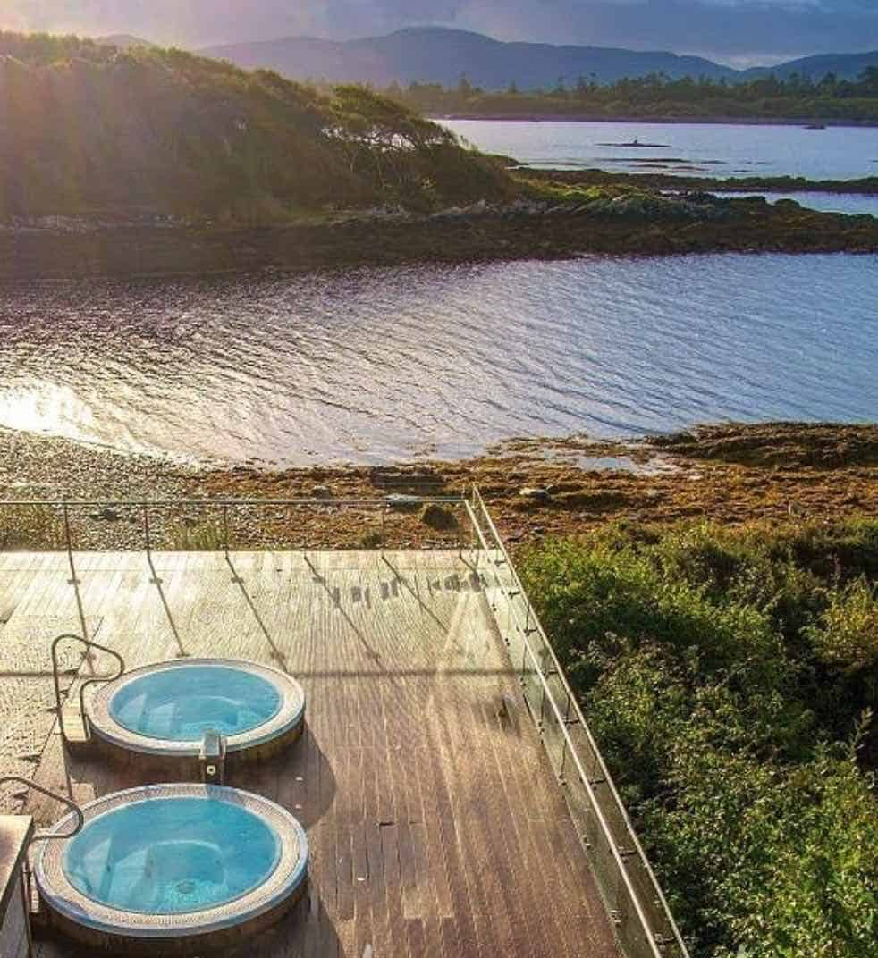 Hot tubs at the Parknasilla resort and spa