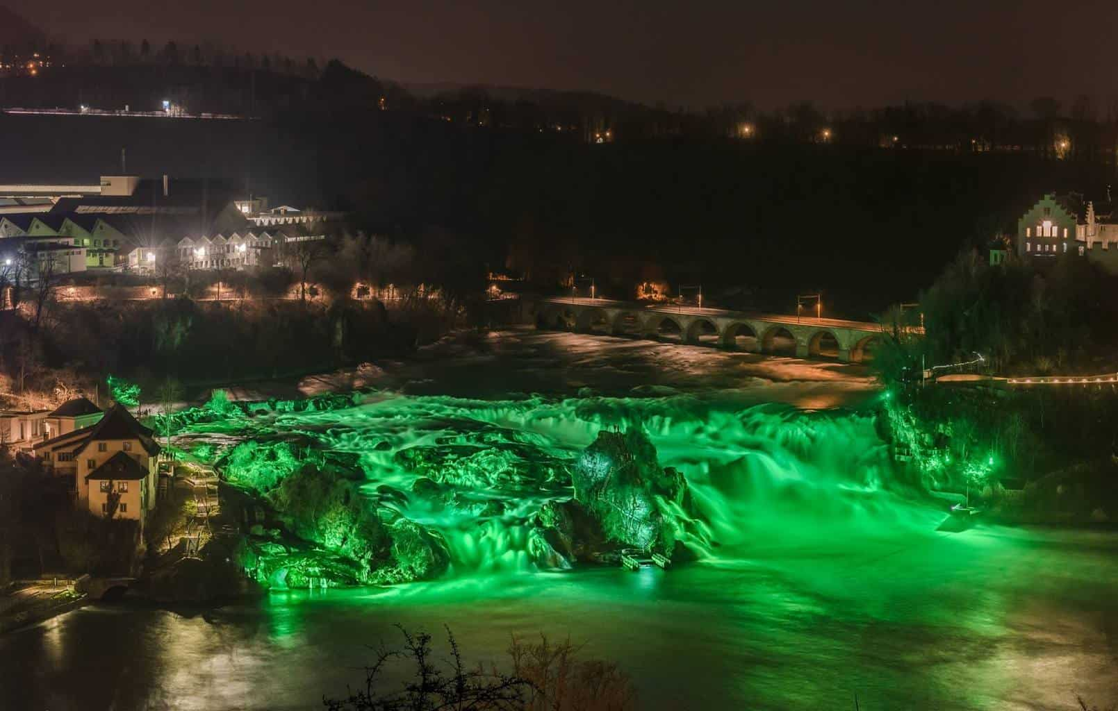 Rhein Falls Switzerland St Patricks day