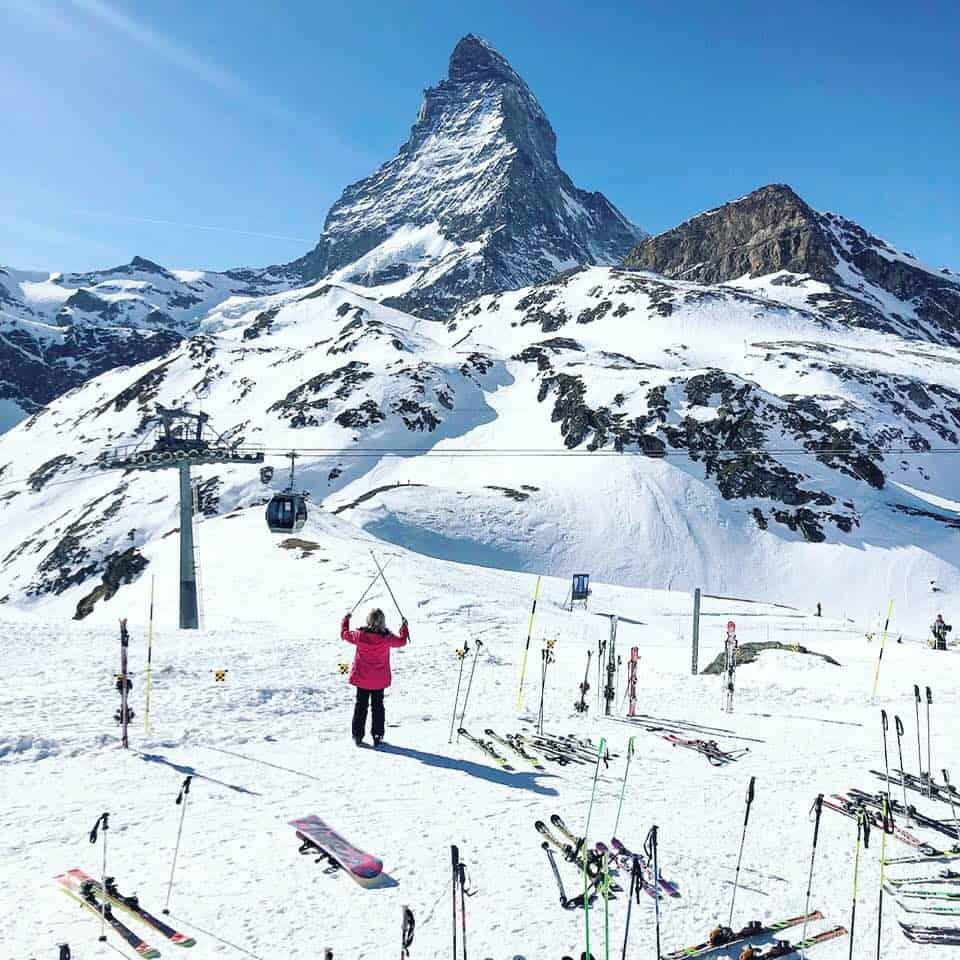 Skiing in Zermatt from Hotel Schweizerhof