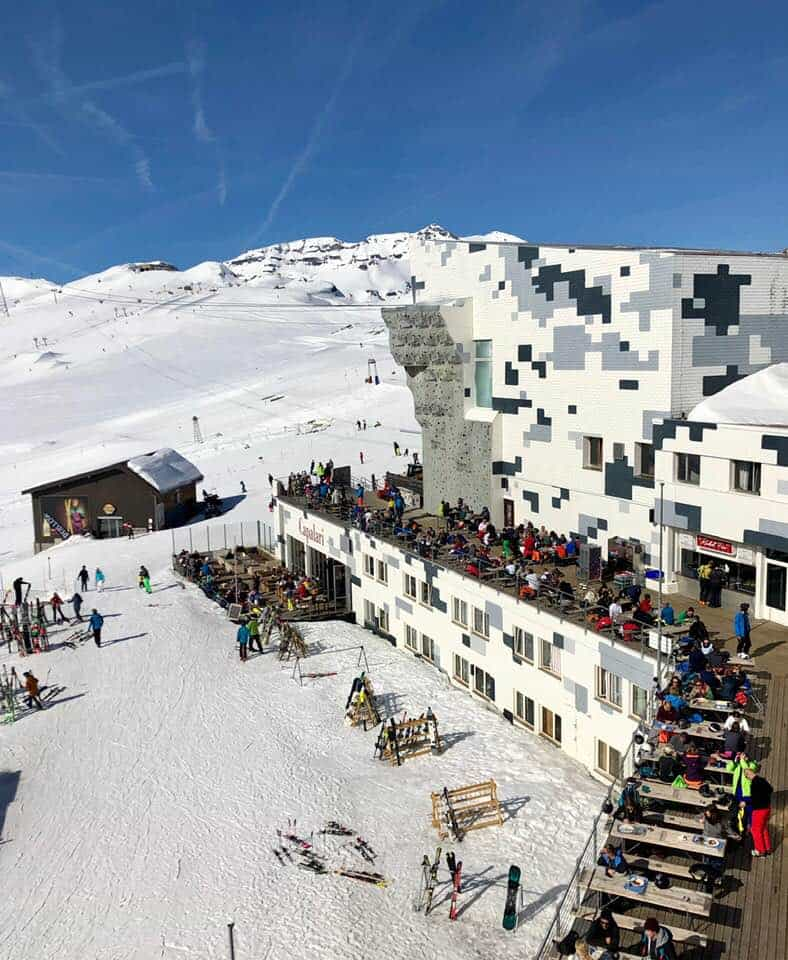 Skiing Flims from The Hide Hotel Flims Switzerland