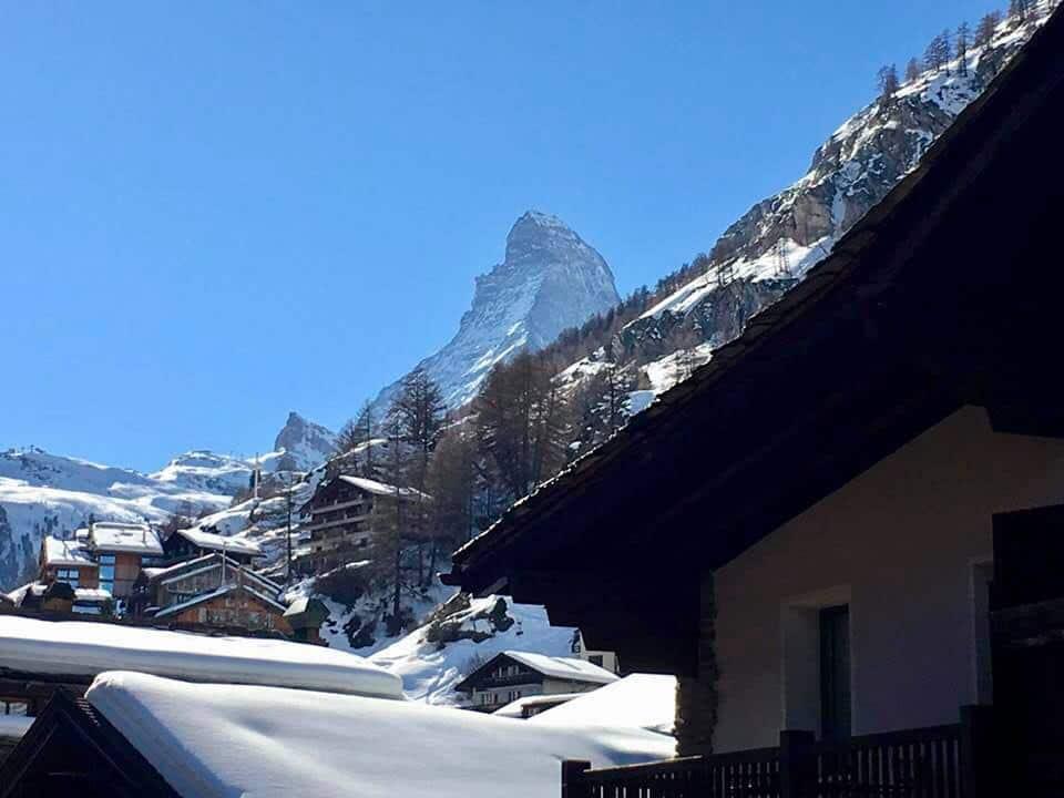 View from balcony at Hotel Schweizerhof Zermatt