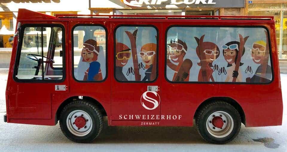 Battery car at Hotel Schweizerhof Zermatt