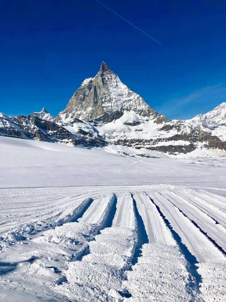 Matterhorn and Hotel Schweizerhof Zermatt