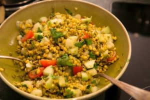 Sprouting Mung Bean Salad