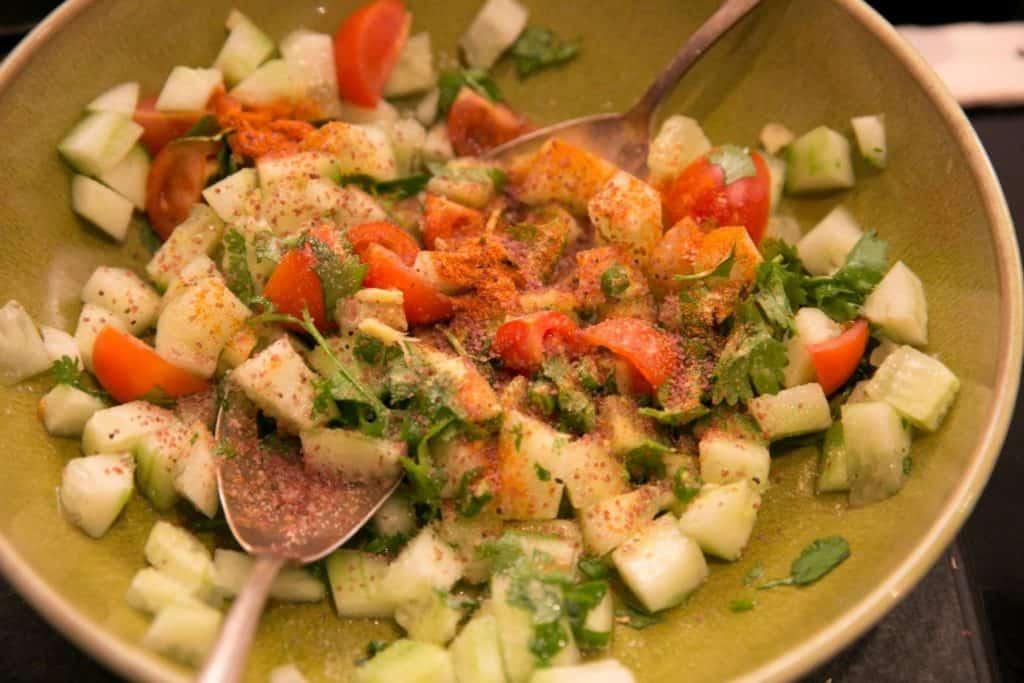Sprouting Mung Bean Salad