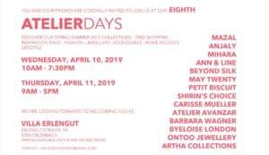Atelier Days Erlenbach 2019
