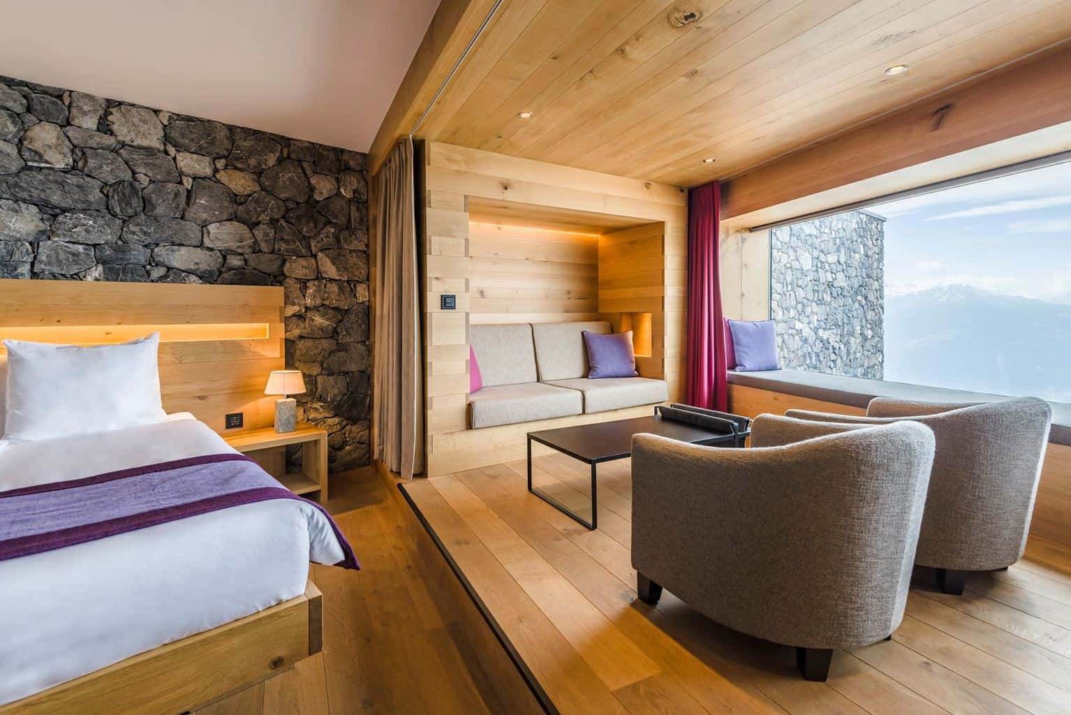 Hotel suite at Chetzeron Crans Montana
