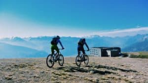 Mountain biking Crans Montana Hotel Chetzeron