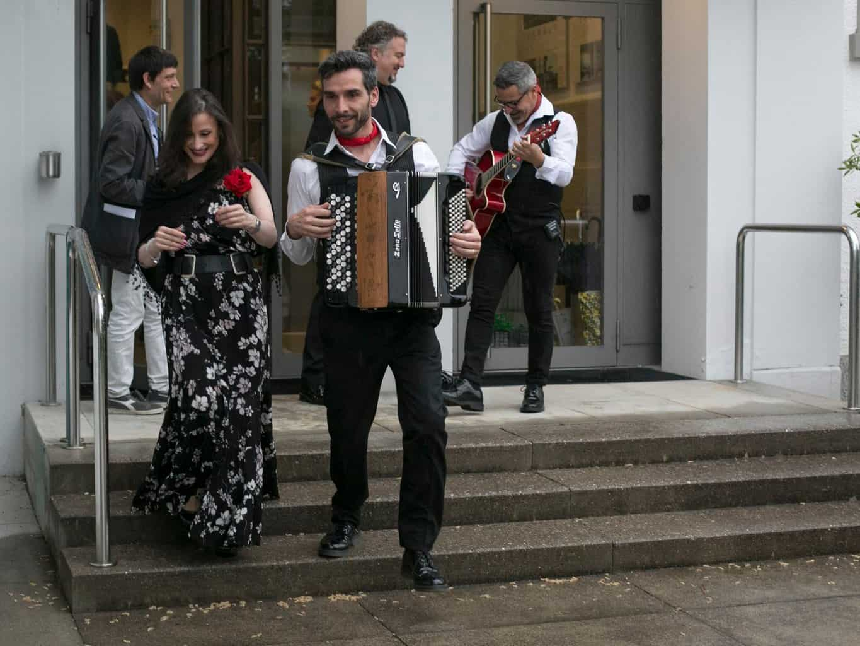 Musicians at Italian Allegriaat Villa Erlengut Erlenbach