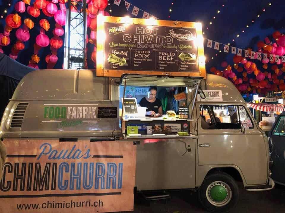 Food trucks at Zurich Street Food Festival Switzerland