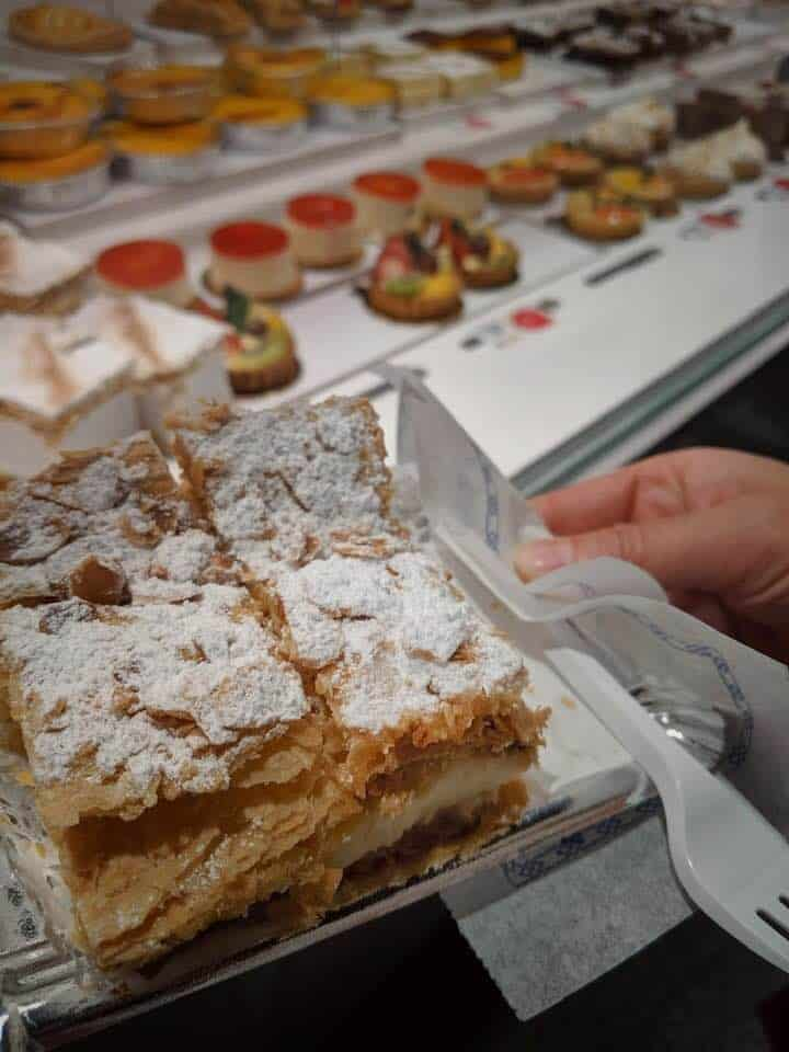 Pastries in Madrid - Milhoja Danesa - Pasteleria