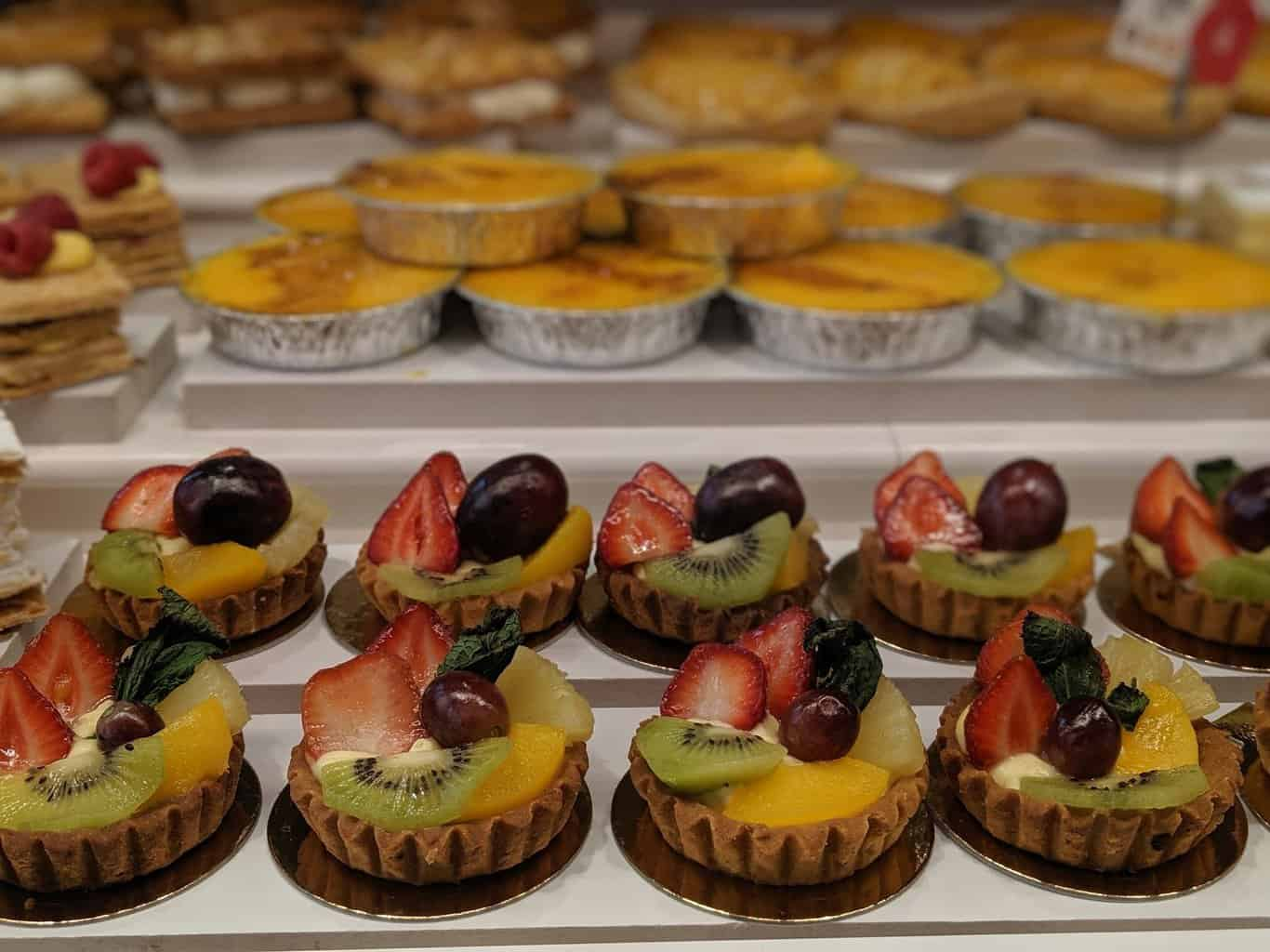 Cakes and tarts in madrid Spain