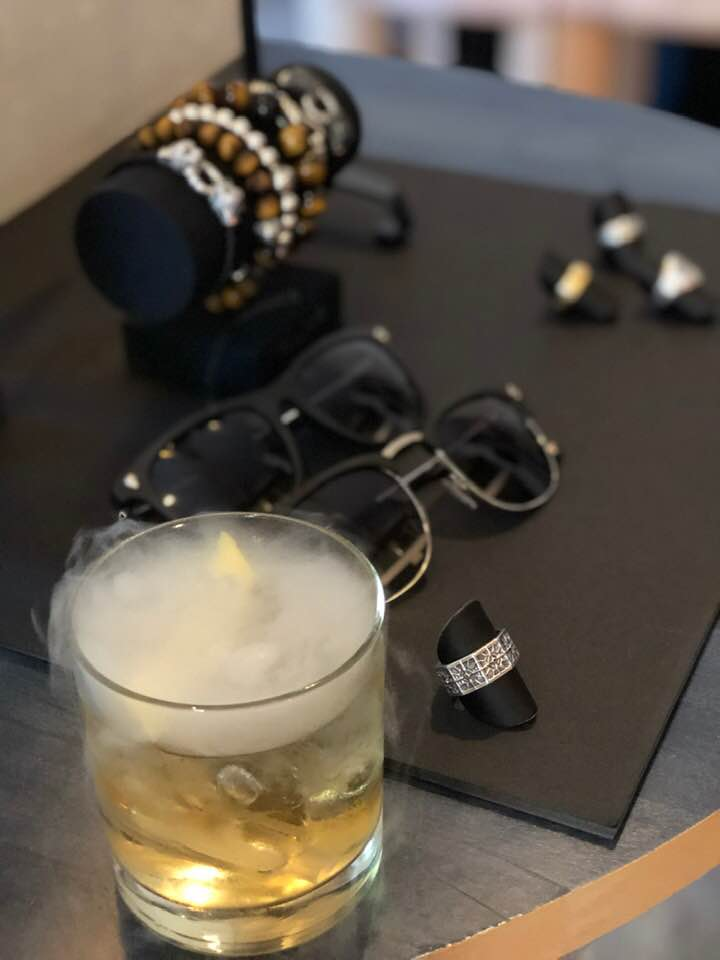 Smoking drink at Press Cocktail for Thomas Sabo Winter 2019 Jewellery Collection