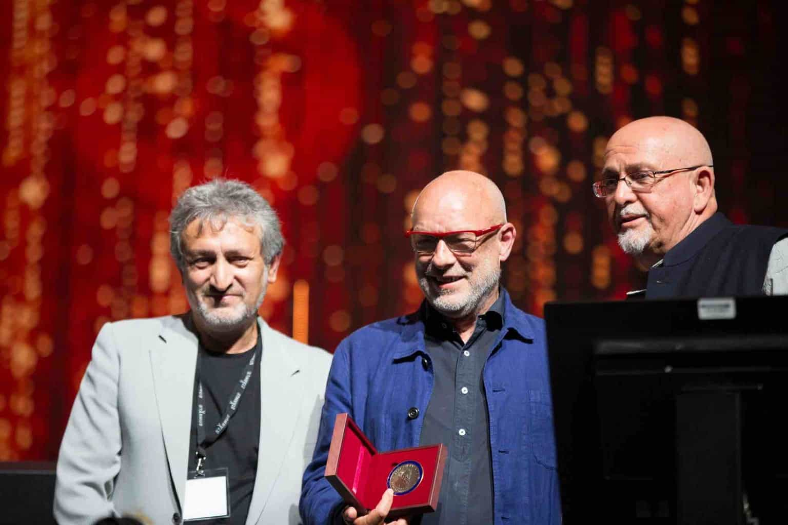 Brian Eno Musician receives Starmus Award