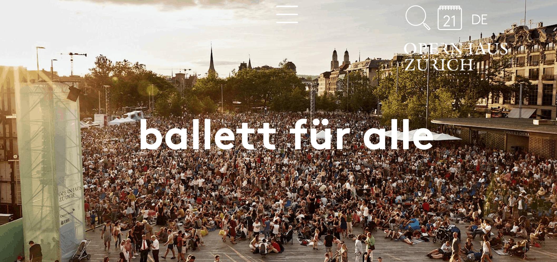 Free Ballet - ballett für alle Sechseläutenplatz Zurich