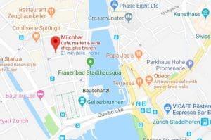 Google maps Milchbar Zurich