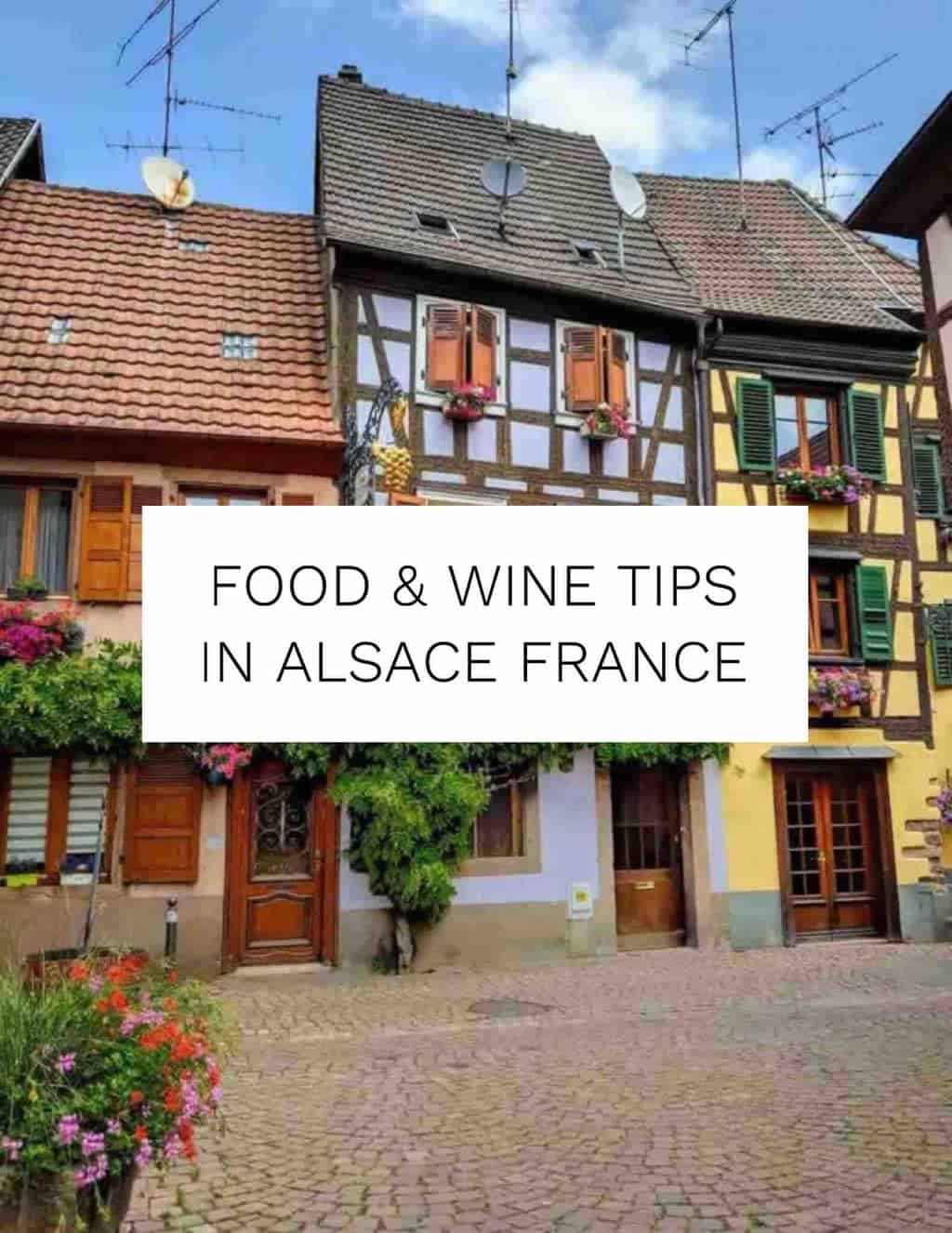 Food and Wine tips in Alsace France