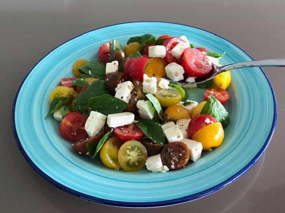 Tomato, Feta and Basil Salad