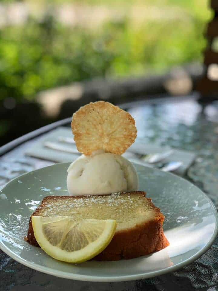 A Delightful Lunch at Albishaus Near Zurich - lemon cake