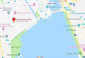 Google maps Herbs Pasta and Bar