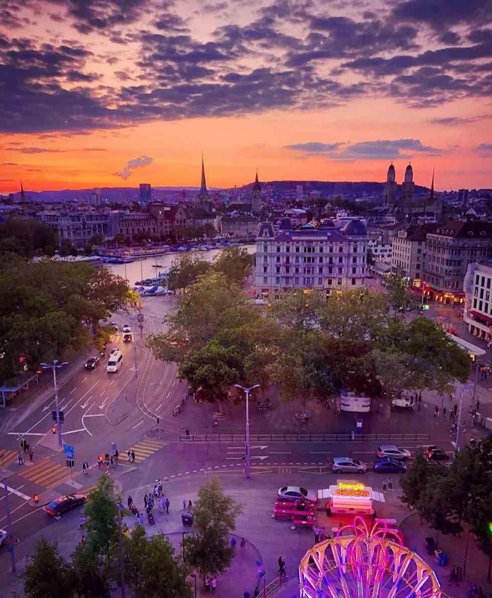 Sunset over Zurich - What's On In Zurich Late July 2019 Onwards