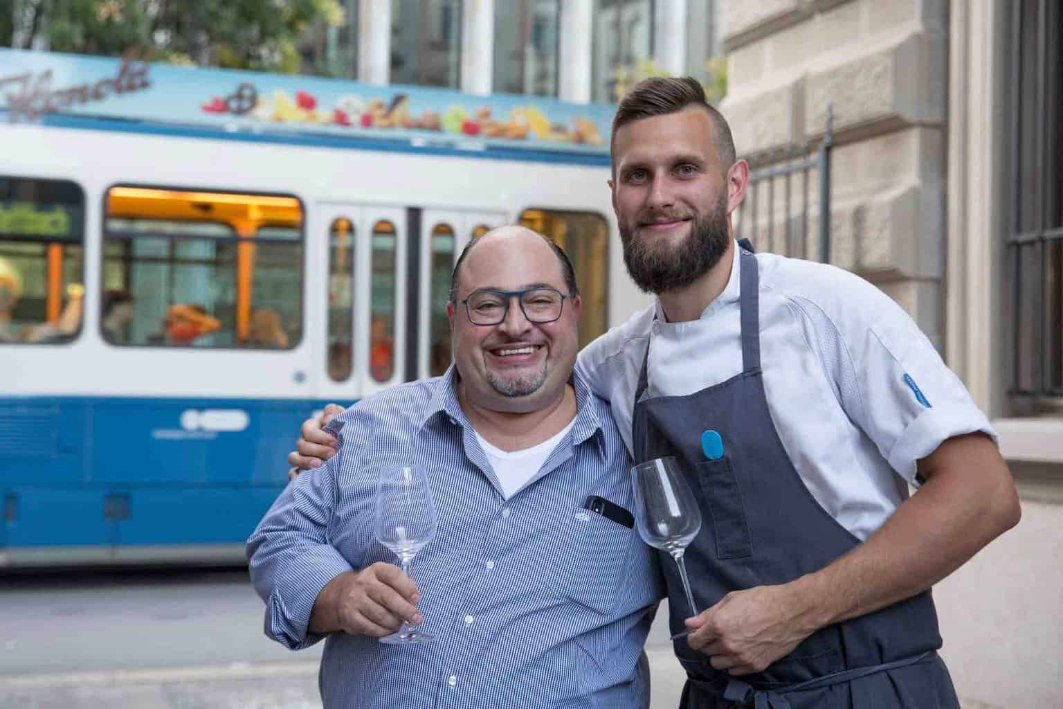 antonio colaianni and Patrick Frischknecht at Coco Grill and Bar