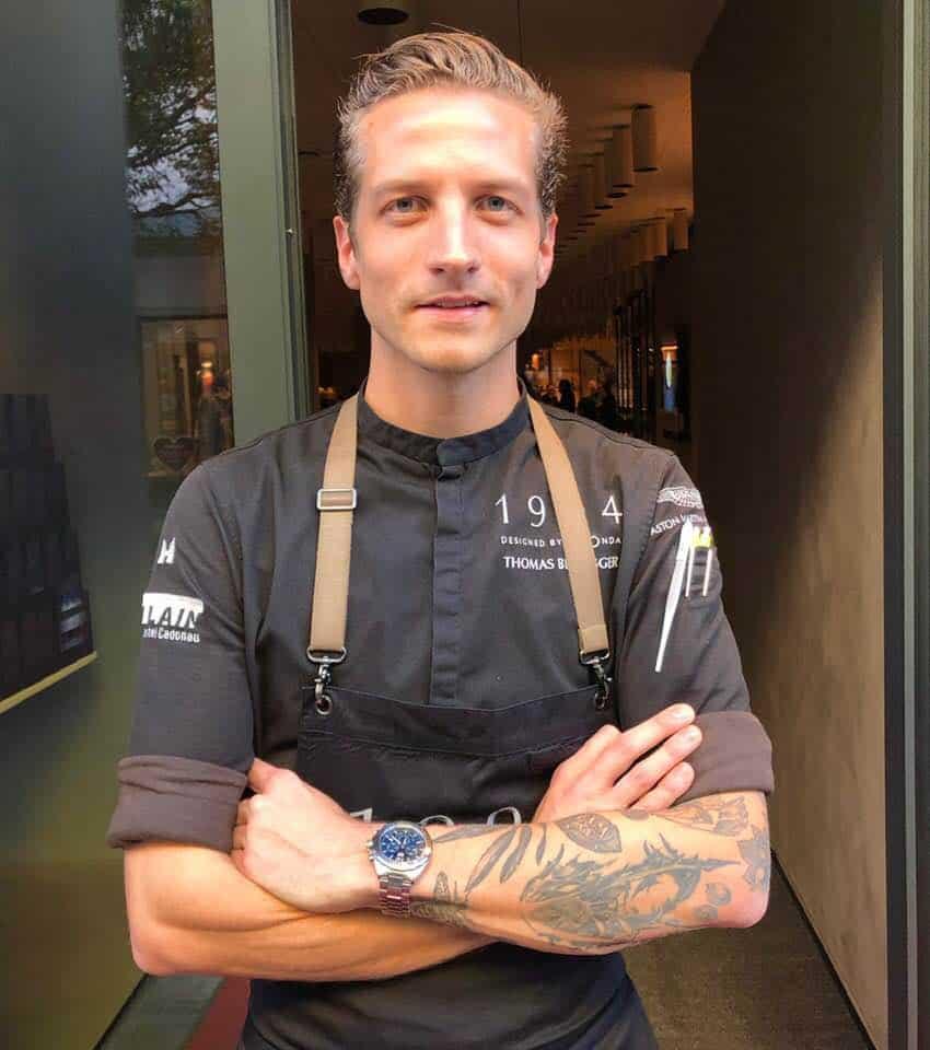 Chef Thomas Bissegger at 1904 Designed By Lagonda Restaurant Zurich