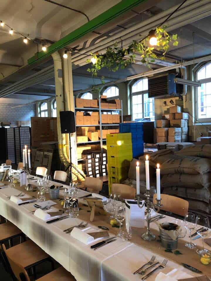 Secret Dinner Zurich - at the Vi roasting factory