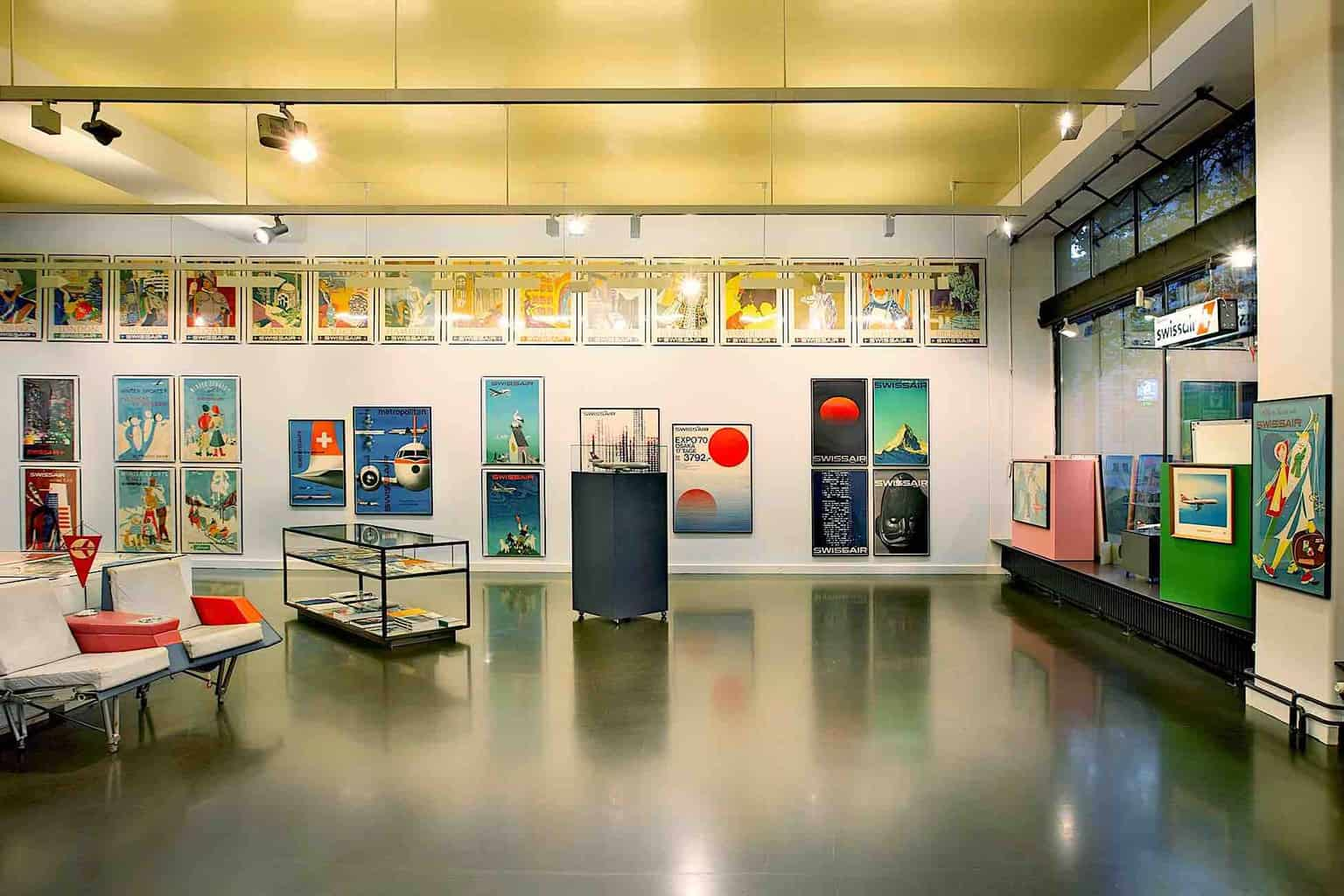 SKY SOCIETY exhibition of Swissair posters Zurich