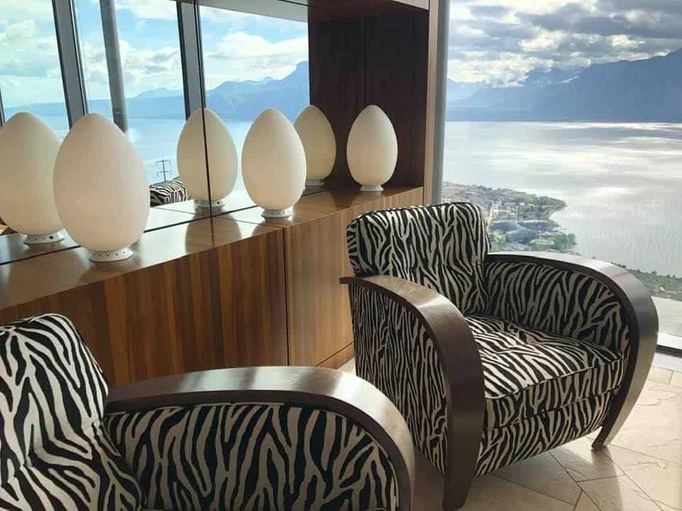 Hotel lobby at Le Mirador Vevey Switzerland
