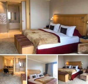 Suite bedroom at Le Mirador Vevey Switzerland