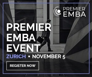 Premier EMBA Event 5th November at Steigenberger Bellerive au Lac
