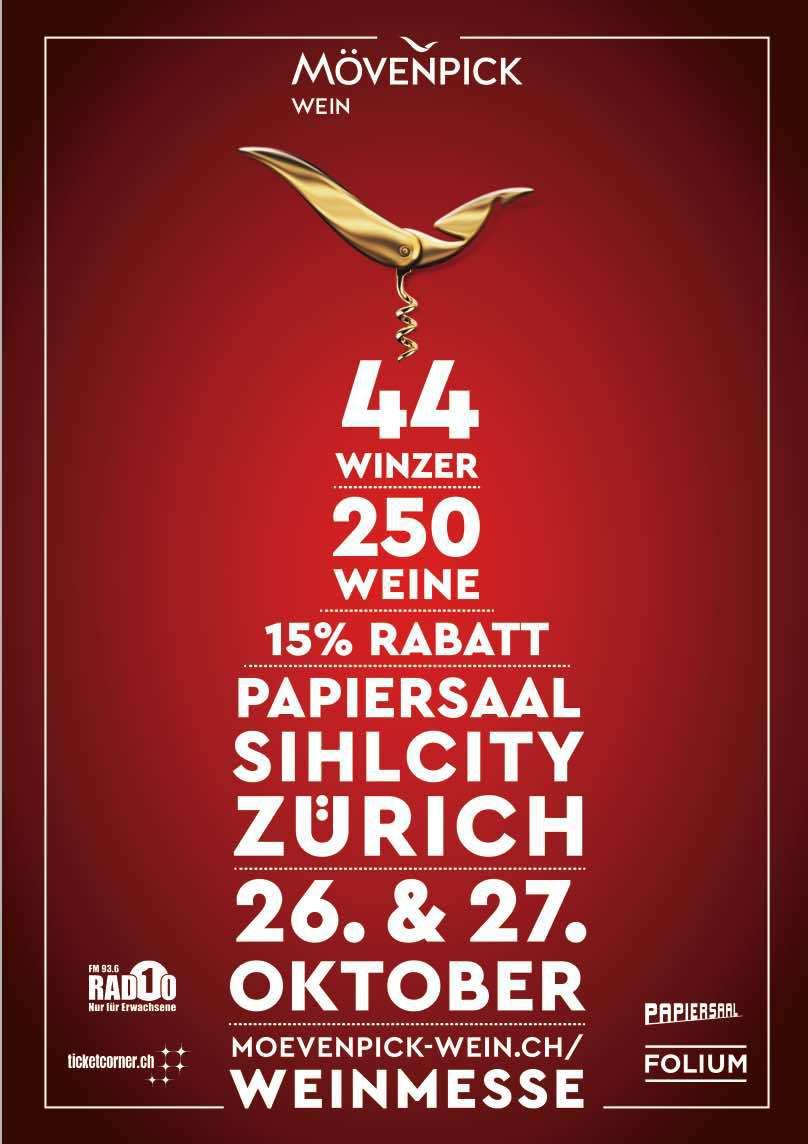 Mövenpick Wine Tasting papiersaal Zurich