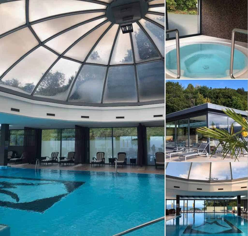 The Spa and pool at Le Mirador Vevey