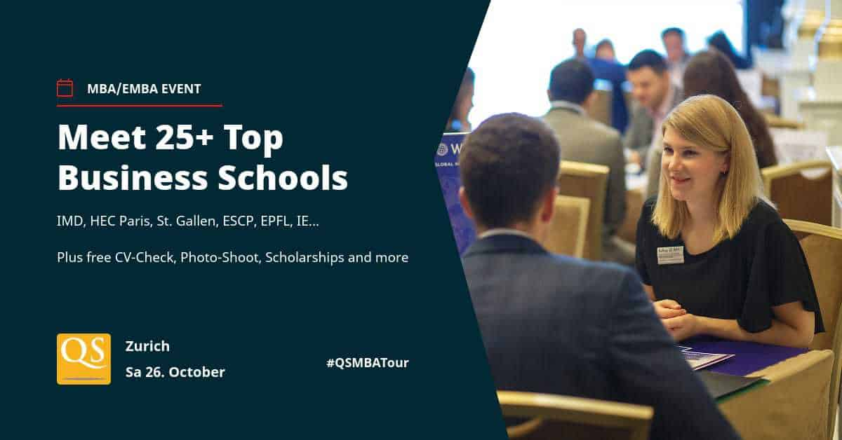 QS TOP MBA EVENT ZURICH - 26th October 2019