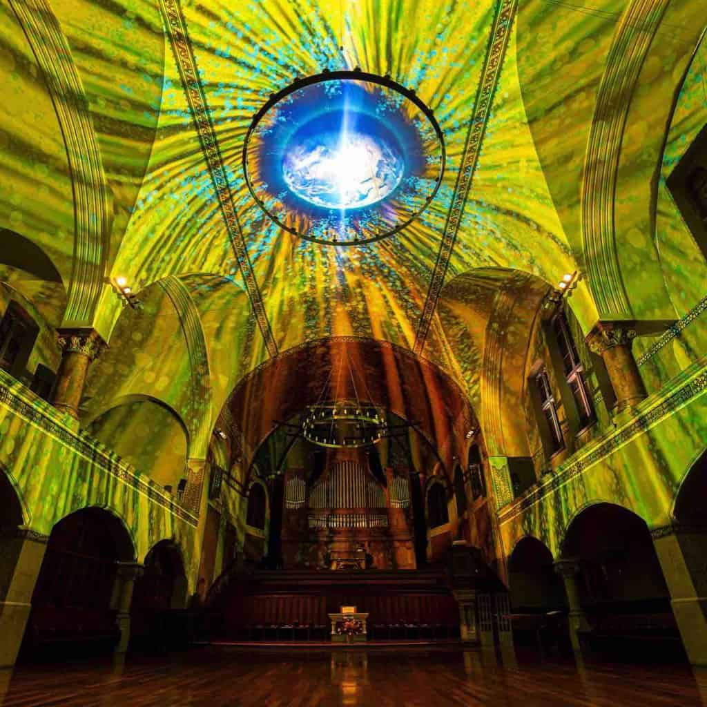 ST JAKOBS CHURCH GENESIS ILLUMINATED ART 31st JAN - 15th MARCH