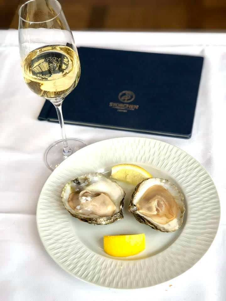 Oysters. Five Star Brunch With A View at the Hotel Storchen Zurich