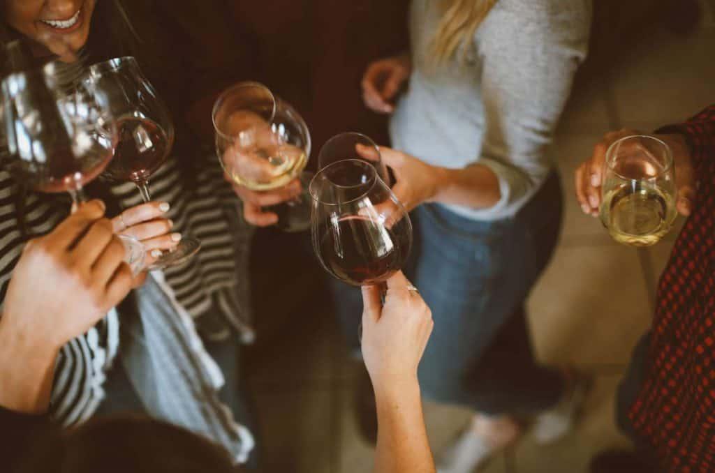 Wine tasting - wine glass