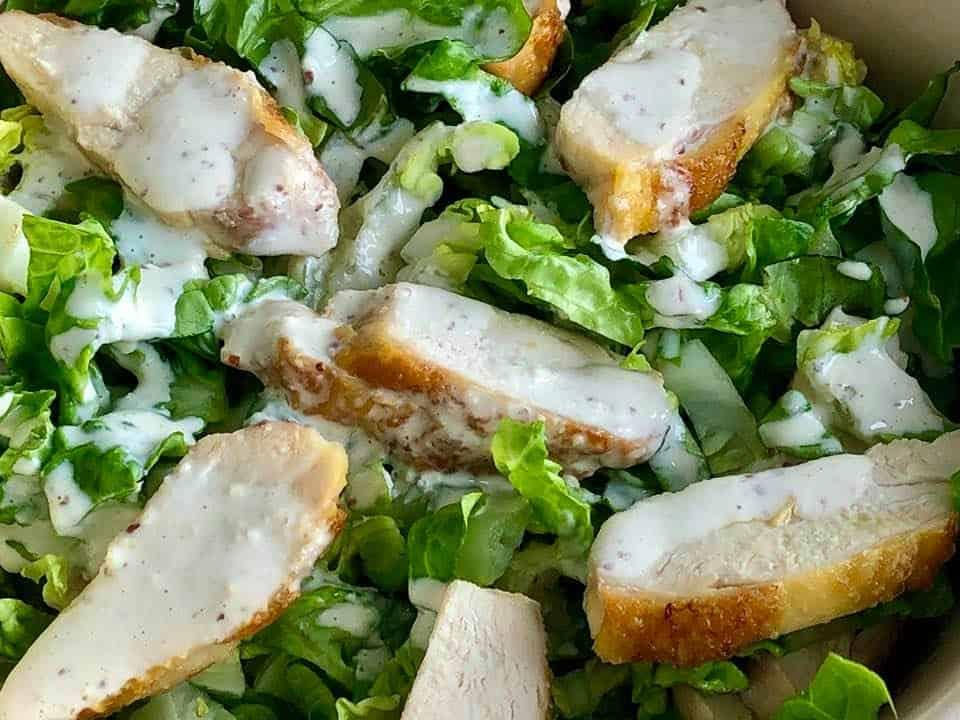 Caesar Salad at the Dolder Grand Drive Through