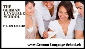 German Language school advertising image