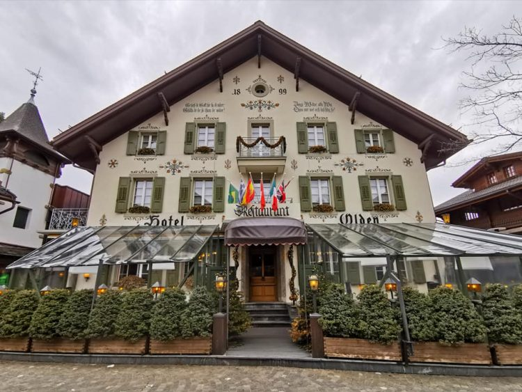 The village of Gstaad
